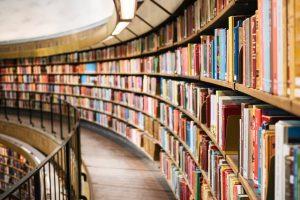 Ksiązki w bibliotece