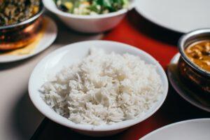 Ryż na talerzu